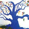 "Personalized Murals: ""Evan"" tree"