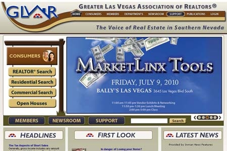 Web Design: Greater Las Vegas Association of Realtors