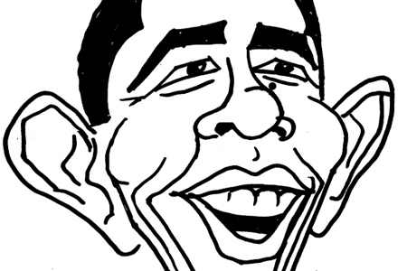 Barack Obama Caricature