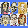 Digital caricatures drawn on Samsung Galaxy Note at CES 2012