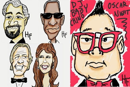 Digital Caricatures: Oscar Night Las Vegas